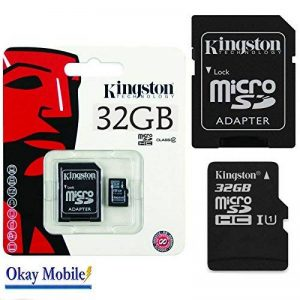 Original Kingston carte microSD Carte mémoire 32 Go pour Huawei Honor 5 C – 32 Go de la marque Okay Mobile image 0 produit