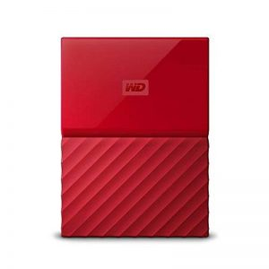 WD My Passport 2 TB Portable Hard Drive and Auto Backup Software for PC, Xbox One and Playstation 4 - Red de la marque Western Digital image 0 produit