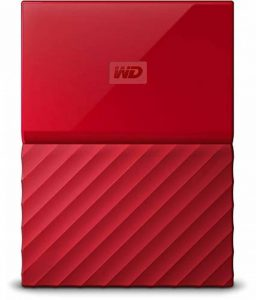 WD My Passport 4 TB Portable Hard Drive and Auto Backup Software for PC, Xbox One and PlayStation 4 - Red de la marque Western Digital image 0 produit
