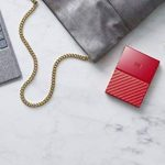 WD My Passport 4 TB Portable Hard Drive and Auto Backup Software for PC, Xbox One and PlayStation 4 - Red de la marque Western Digital image 4 produit