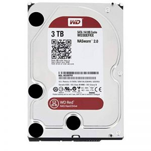 WD Red Desktop WD30EFRX Disque dur interne 3.5'' SATA III IntelliPower Mémoire cache 64Mo 3 To 5400 tours par minute de la marque Western-Digital image 0 produit